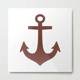 Anchor (Brown & White) Metal Print