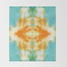 """Poncho mood"" triangles design Throw Blanket"