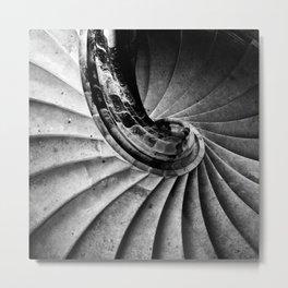 Sand stone spiral staircase Metal Print