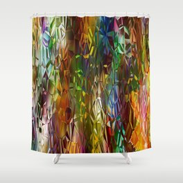 Abstract Gass Shower Curtain