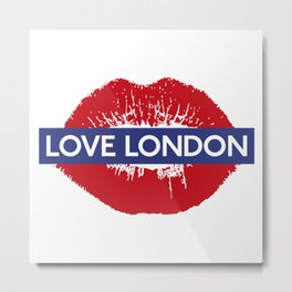 yeah baby, Love London Metal Print