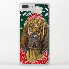 Bloodhound in a Hat and Scarf Clear iPhone Case