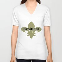 resident evil V-neck T-shirts featuring Resident by anto harjo