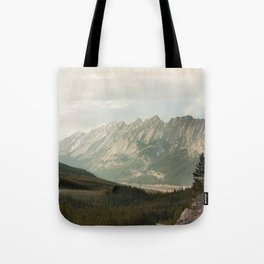 Rocky Mountains Photography Print Tote Bag