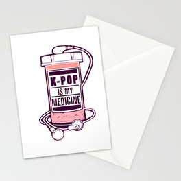 KPOP is my medicine Stationery Cards
