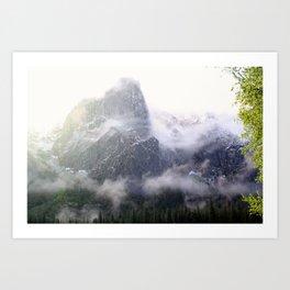 Yosemite Snow Art Print