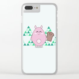 Mr Floof Clear iPhone Case