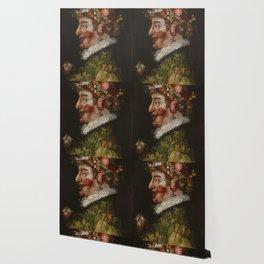 "Giuseppe Arcimboldo ""Four seasons - Spring"" Wallpaper"