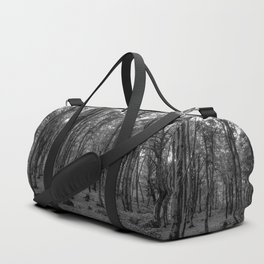 Black and White Soriano nel Cimino's Faggeta, Italy - Mount Cimino Faggeta Duffle Bag