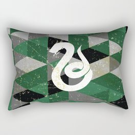 Slytherin House Pattern Rectangular Pillow