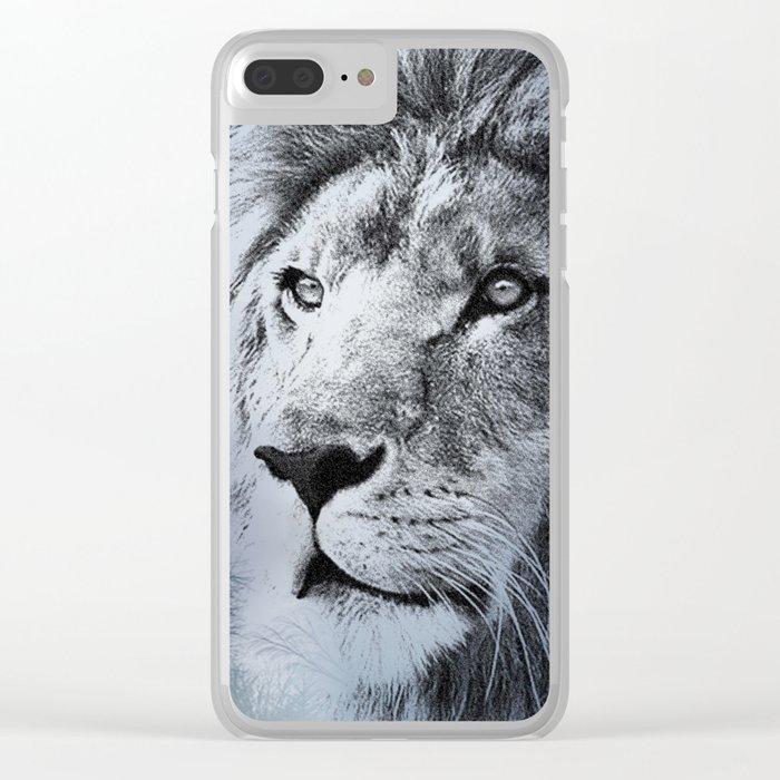 lion illustration Clear iPhone Case