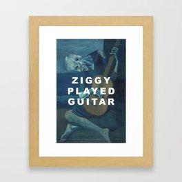 The Old Ziggy Framed Art Print