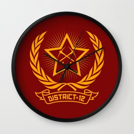 District 12 workers shirt Wall Clock