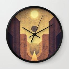 Janus & Epimetheus - Co-Orbital Moons Wall Clock