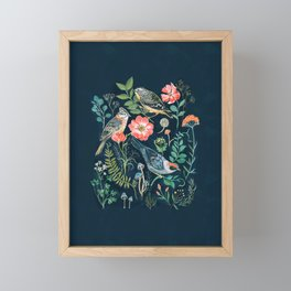 Birds Garden Framed Mini Art Print
