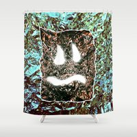 heavy metal Shower Curtains featuring Heavy Metal by cahill wessel