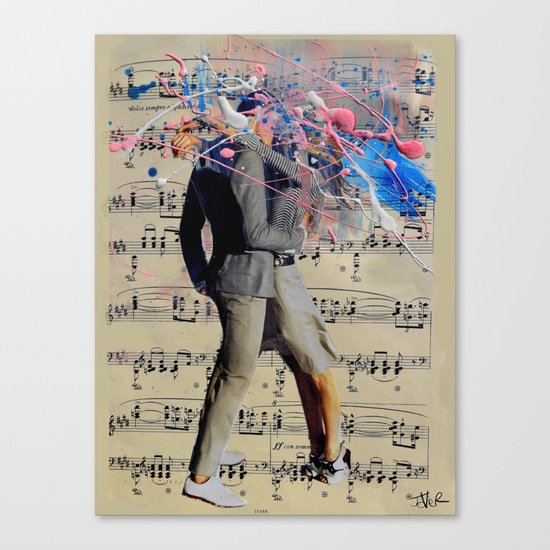 THE ART OF KISSING Canvas Print