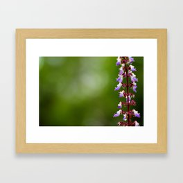 Every flower is a soul blossoming in nature. Framed Art Print