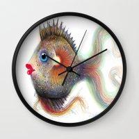 fancy Wall Clocks featuring Fancy by Glenn Sharron