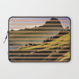 Landscape pattern (with pink touches) Laptop Sleeve