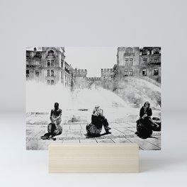 Munich Karlsplatz Stachus in a hot summer day Mini Art Print