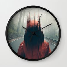 Face into the Abyss Wall Clock