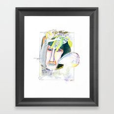 The businessman Framed Art Print