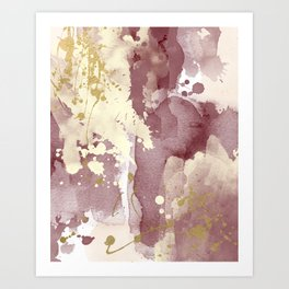 Burgundy abstract painting Art Print