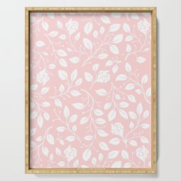 Floral on pink Serving Tray