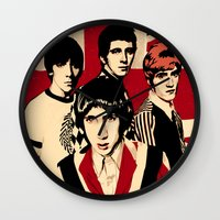 the who Wall Clocks featuring wHO? by f_e_l_i_x_x