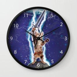 Lightning Cat Wall Clock