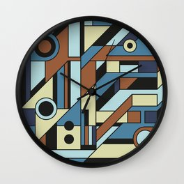 De Stijl Abstract Geometric Artwork 3 Wall Clock
