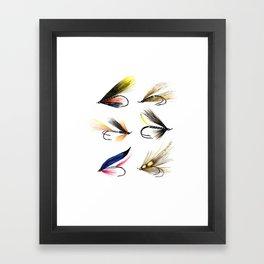 Classic Salmon Fishing Flies Framed Art Print