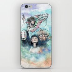 Spirited Away Watercolor Painting iPhone & iPod Skin