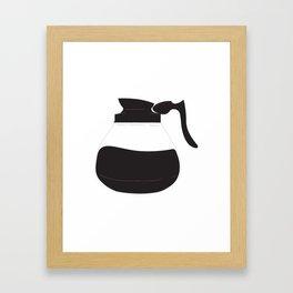 More Coffee Please Framed Art Print
