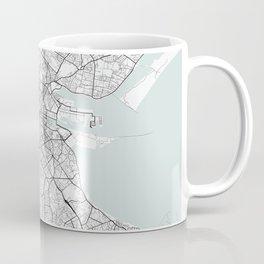 Dublin Ireland Blue Water Street Map Coffee Mug