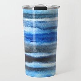 blue brush stroke Travel Mug