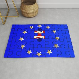 European Union Flag Jigsaw With Union Jack Rug