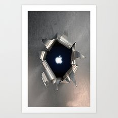 Apple Hole Art Print