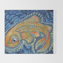 Lucky Fish Throw Blanket