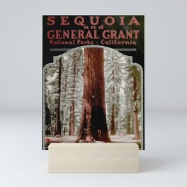 Vintage Sequoia National Park Illustrative Poster (1919) Mini Art Print