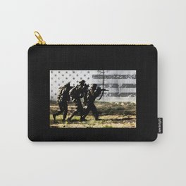 Soldiers and US Flag Carry-All Pouch