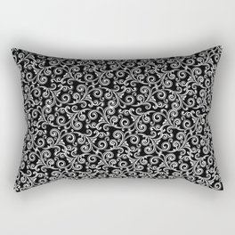 black and white swirls Rectangular Pillow