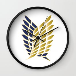 Wings Of Freedom - Gold Edition (Premium) Wall Clock