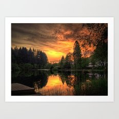Golden Light On Loch Ard Art Print