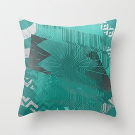 Silicon Greens Throw Pillow