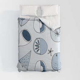 Classic Blue Fruits Ice Comforters