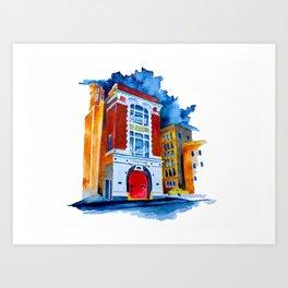 ghost busters garage Art Print