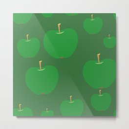 Assorted Green Apples Metal Print