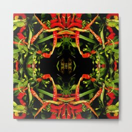 Chilli Pepper Paintography Pattern Metal Print